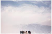 Retratos de familia en boda con vista de montaña. Fotos de familia. Family portraits.